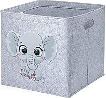 otutun Aufbewahrungsbox Kinder, 33 x 33 x 33 cm