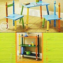 OTZ Kinder Holz Bücherregal mit Kreide