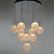 Oudan 10 Kronleuchter Lampe mit Glaskolben