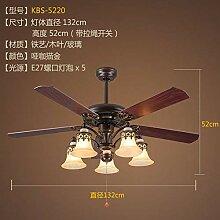 Oudan Amerikanischen Stil Deckenventilator Lampe