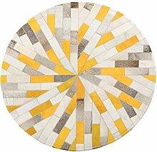 Oudan Designer Round Rug Luxus Kuhfell Teppiche