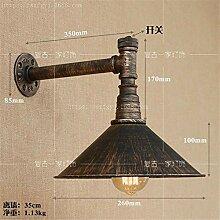 Oudan Einfache Eisenkunst Wasserpfeife Wandleuchte