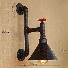 Oudan LOFT Retro Wand Lampen Eisen Lampe Cafe Wand