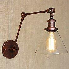 Oudan Vintage Eisen Kunst Wandleuchte Lampe