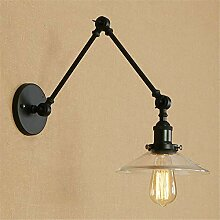Oudan Vintage Wandleuchte Lampe Glas Schwinge