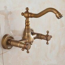 Ouecc Shang Antike Wand Tippen Sie Auf Europäischen Vintage Dusche Wasserhahn 360 Grad Drehbare Voll Kupfer Bad Armatur