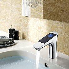 Ouecc Shang Digitale Badezimmer Thermostatische Dusche Armatur Thermostat Die Temperatur Flow Control Lcd-Touchscreen Smart Becken Tippen Sie Auf Digitalen Wasserhahn