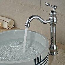 Ouecc Shang Luxus Chrom Poliert Messing Bad Armatur Einzigen Griff Loch Waschbecken Mischer Heißem Und Kaltem Leitungswasser