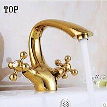 Ouecc Shang Luxus Doppelzimmer Mit Bad Armatur Gold Vintage Waschtischmischer Morden Gold Waschbecken Tippen Wasseranschluß