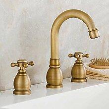 Ouecc Shang Weit Verbreitete 3 Messing Antik Verbreitete Deck Montiert Römischen Bad Armatur Waschbecken Toilette Mixer Leitungswasser