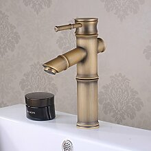 ougmoo europäischen Wasserhahn Continental Badezimmer American blau und weiß Porzellan Antik Waschbecken Wasserhahn Short paragraphs