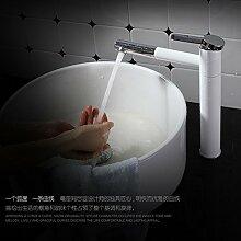 ougmoo massivem Messing Backen Paint Wasser Armatur Badezimmer Single Loch Waschtisch Armatur Badezimmer Armaturen Torneira banheiro messing