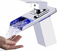 OUGOO LED-Licht-Badezimmer-Wasserhahn, 3 Farben