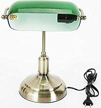 OUKANING Retro Bankerlampe,Schreibtischlampe mit