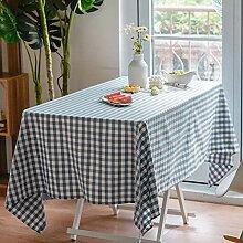 Oukeep Moderne Und Einfache Karierte Tischdecke