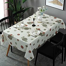 Oukeep Moderne Und Einfache PVC-Tischdecke,