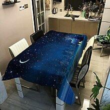 Oukeep Weihnachtstischdecke wasserdichte Polyester