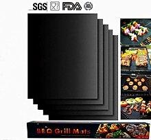 Ouken BBQ Grill Mat Set 5, Antihaft Ofen Liner