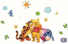 Oulique ® 3D Aufkleber Winnie the Pooh für das Kinderzimmer