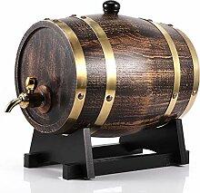 Oumefar 3L Eiche Holz Weinfass Retro Holzmaserung