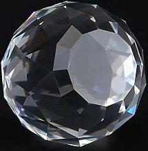 Oumefar Glaskugel klar Kristallkugel Prismen Kugel