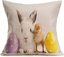 Ouneed® Easter Sofa Bed Home Decoration Festival Pillow Case (U)