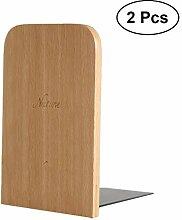OUNONA 2 Stück Holz Buchstützen handgefertigte