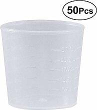 OUNONA 50 stücke 30 ml Kunststoff Graduierte