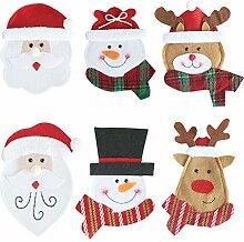 OUNONA 6pcs Weihnachtsgeschirr Organisator Besteck