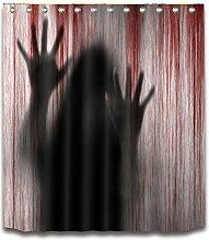 OUNONA Badezimmer Duschvorhang mit blutigen