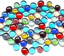 OUNONA Glasnuggets transp bunt Deko Mosaiksteine fur Fisch Tank Natürliche dekorative 500g 15-17mm