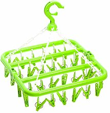 OUNONA Wäschespinne mit 32 Klammern Klappbare