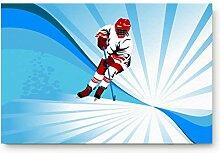 OUR WINGS Eishockey-Fußmatte für Innenbereich,