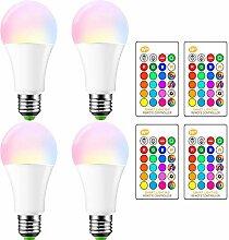 OurLeeme E27 RGB LED Farbwechsel Lampe 15W Bunte