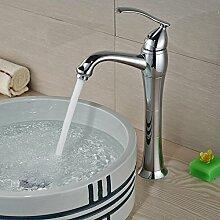 ourmeler chrom Messing Single Griff Ein Loch Messing Badezimmer Mixer Deck montieren Waschbecken Wasserhahn mit heißem und kaltem Wasser