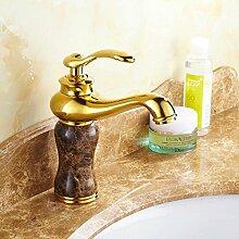 ourmeler Stein Golden Wasserhahn und massivem