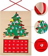 OurWarm Adventskalender aus Filz mit Taschen und
