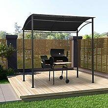OUSEE BBQ-Pavillon 215x150x220 cm Anthrazit Stahl