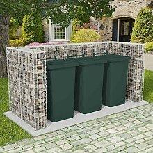 OUSEE Gabionen-Mülltonnenverkleidung für 3