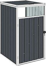 OUSEE Mülltonnenbox Anthrazit 72×81×121 cm Stahl