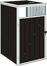 OUSEE Mülltonnenbox Braun 72×81×121 cm Stahl