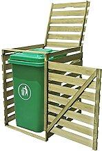 OUSEE Mülltonnenbox für 1 Tonne 240 L