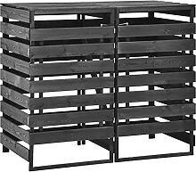 OUSEE Mülltonnenbox für 2 Tonnen 140x75x121 cm