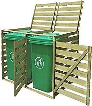 OUSEE Mülltonnenbox für 2 Tonnen 240 L