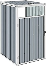 OUSEE Mülltonnenbox Grau 72×81×121 cm Stahl