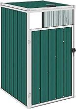 OUSEE Mülltonnenbox Grün 72×81×121 cm Stahl