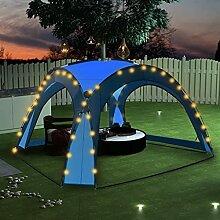 OUSEE Partyzelt mit LED und 4 Seitenwänden 3,6 x