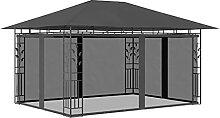OUSEE Pavillon mit Moskitonetz 4x3x2,73 m
