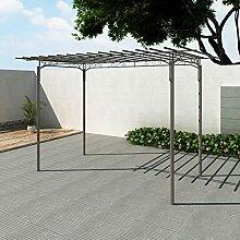 OUSEE Stahl Pavillon Gartenlaube Gartenhaus Laube