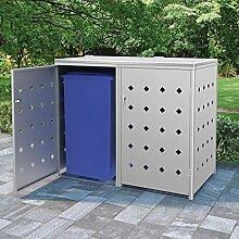 Oushome Mülltonnenbox für 2 Tonnen 240 L